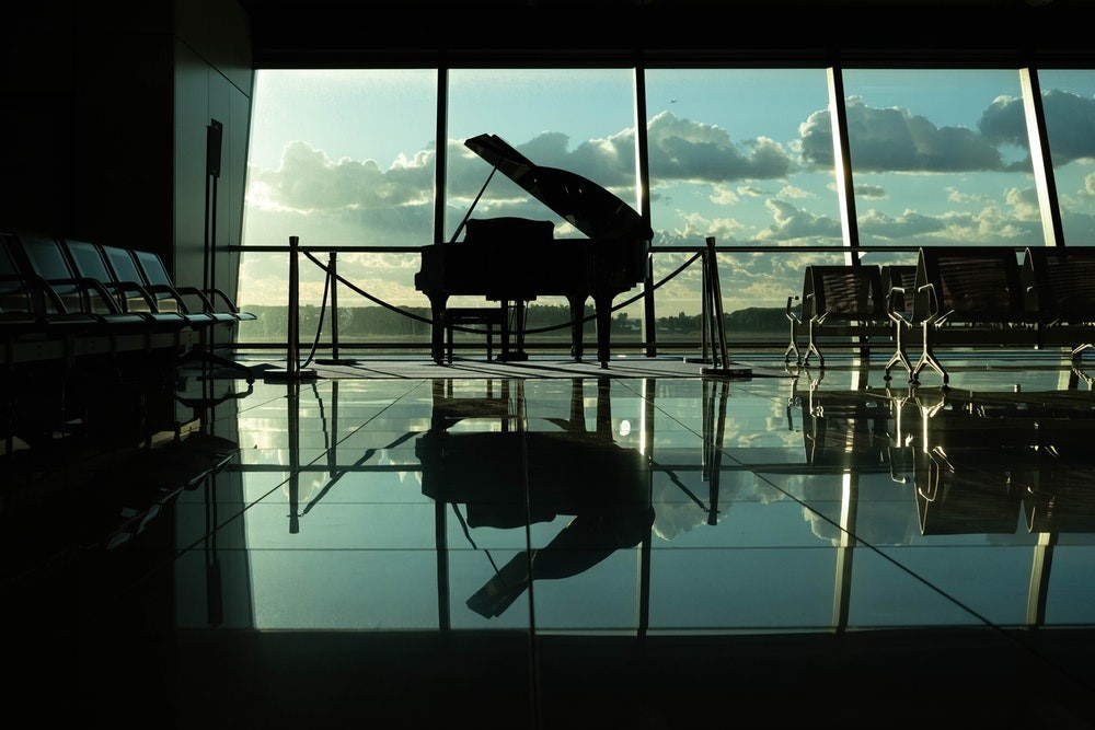 vleugel vliegveld
